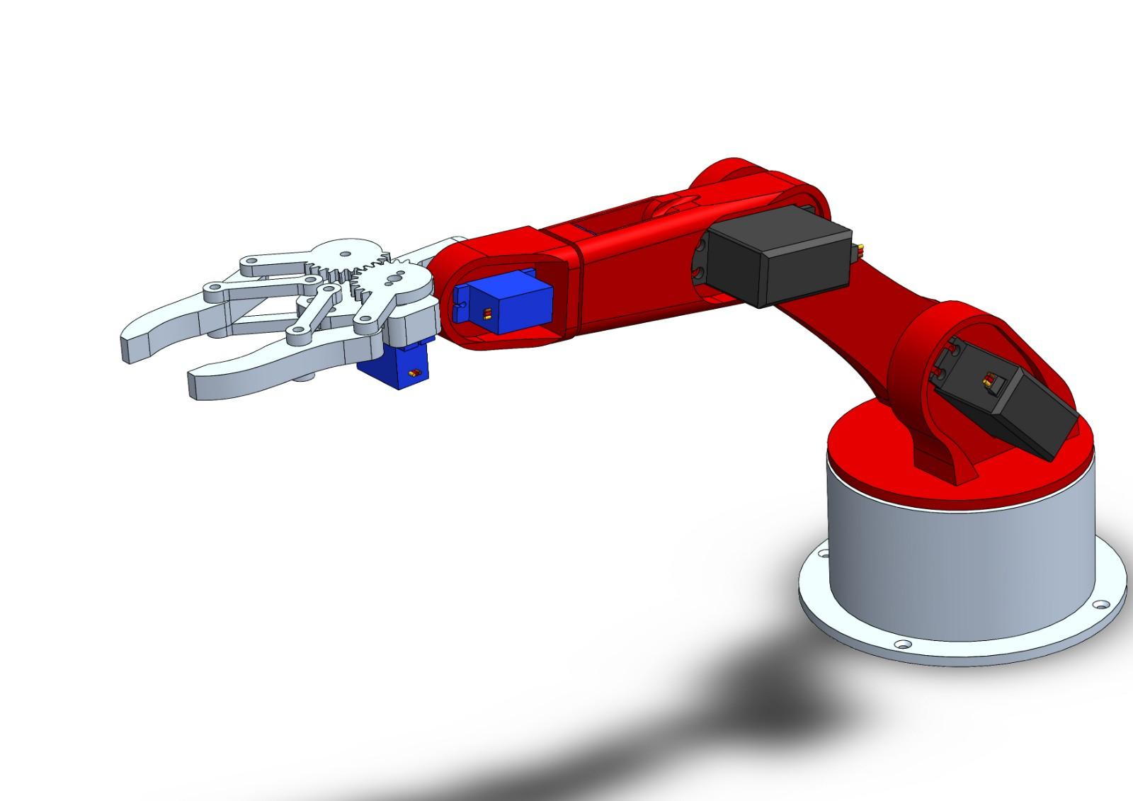 SolidWorks模型免费下载: 机器人 机械臂