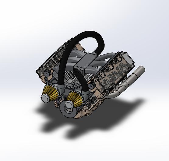 SolidWorks模型免费下载:汽车发动机(v6)