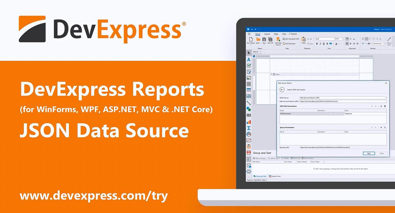 [官方视频]DevExpress Reporting v20.1:JSON数据源