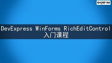DevExpress Rich Text Editor Control入门教学视频
