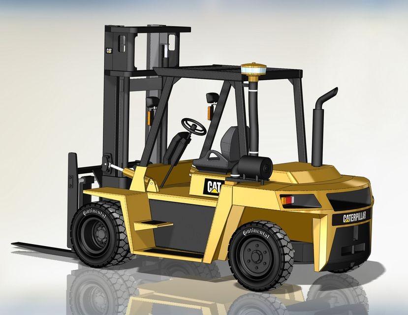 SolidWorks模型免费下载:叉车模型