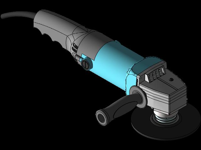SolidWorks模型分享:角磨机模型 免费下载