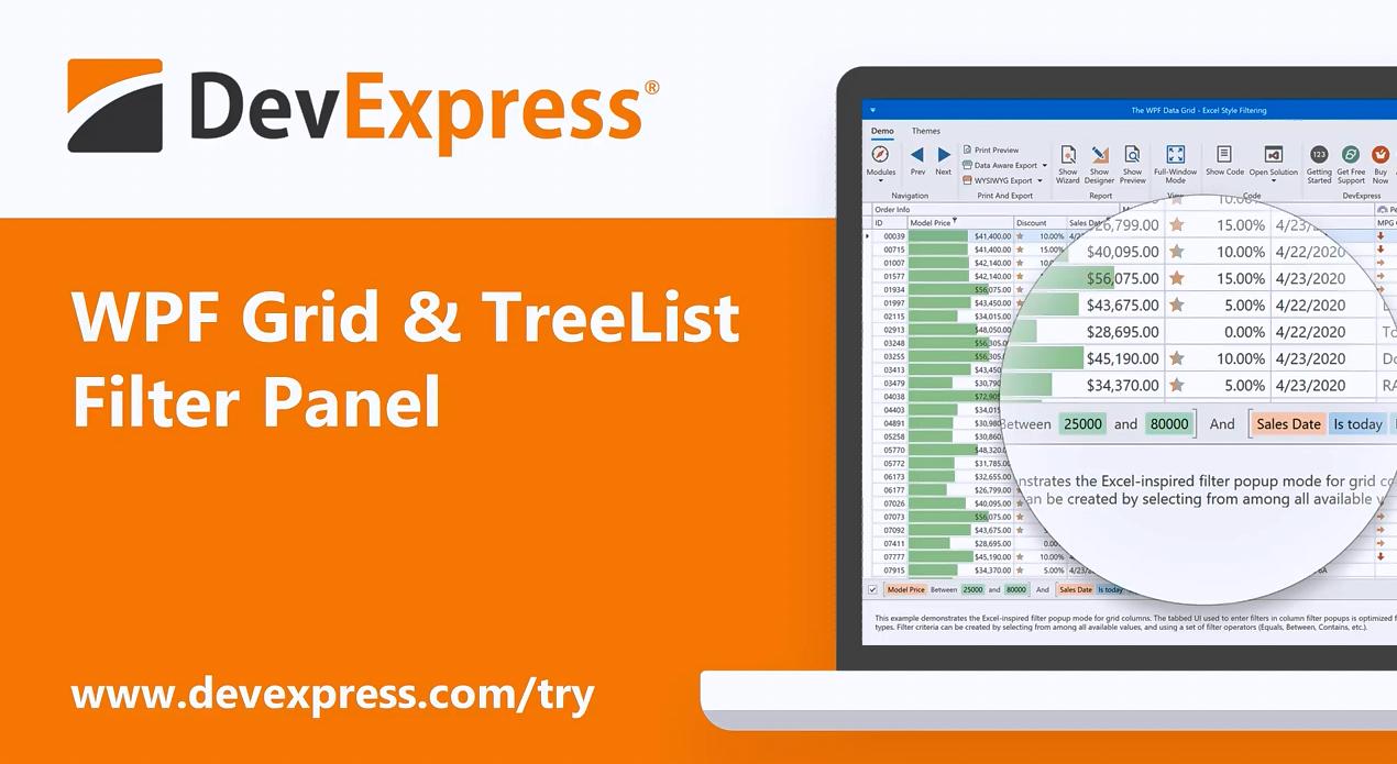 [官方视频]DevExpress WPF v20.1视频:WPF Grid & TreeList:增强Filter Panel功能