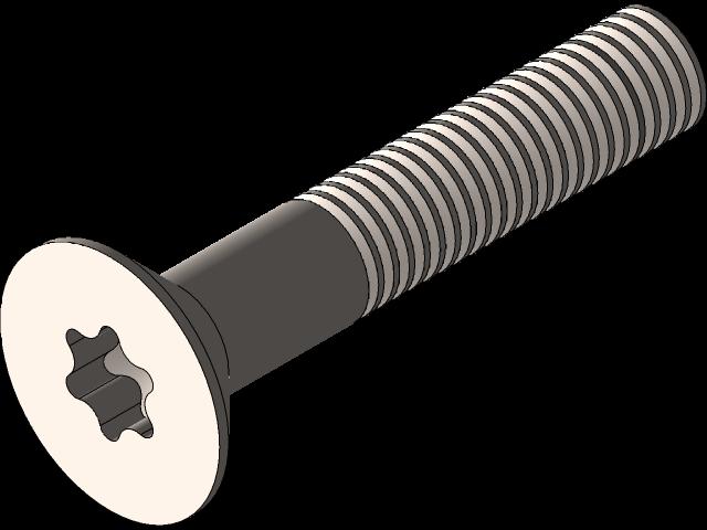 SolidWorks模型免费下载:带参数的M6x45螺钉