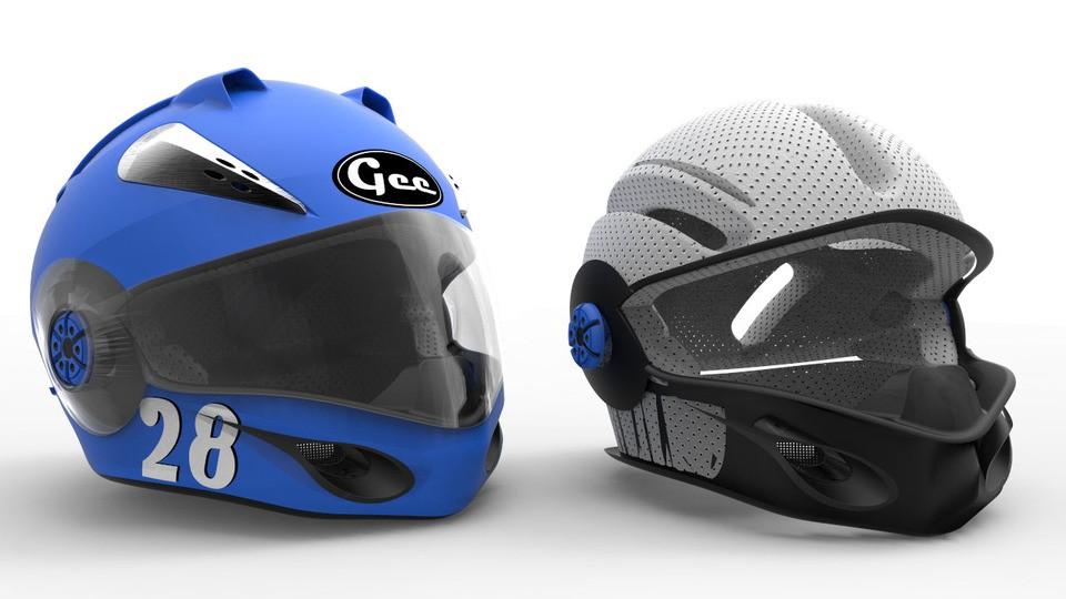 SolidWorks模型分享:赛车头盔模型  免费下载