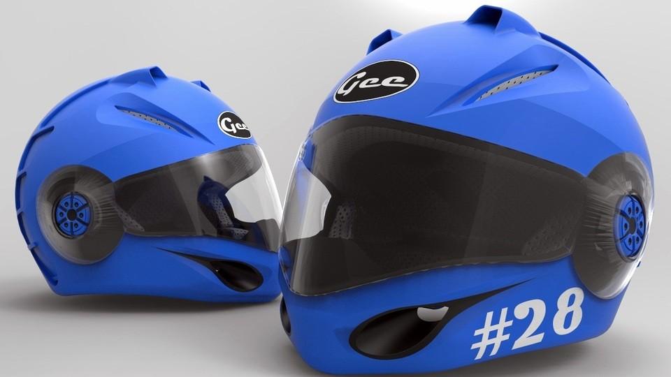 SolidWorks模型免费下载:赛车头盔