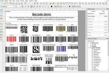 NCReport预览:QT报表设计器barcode