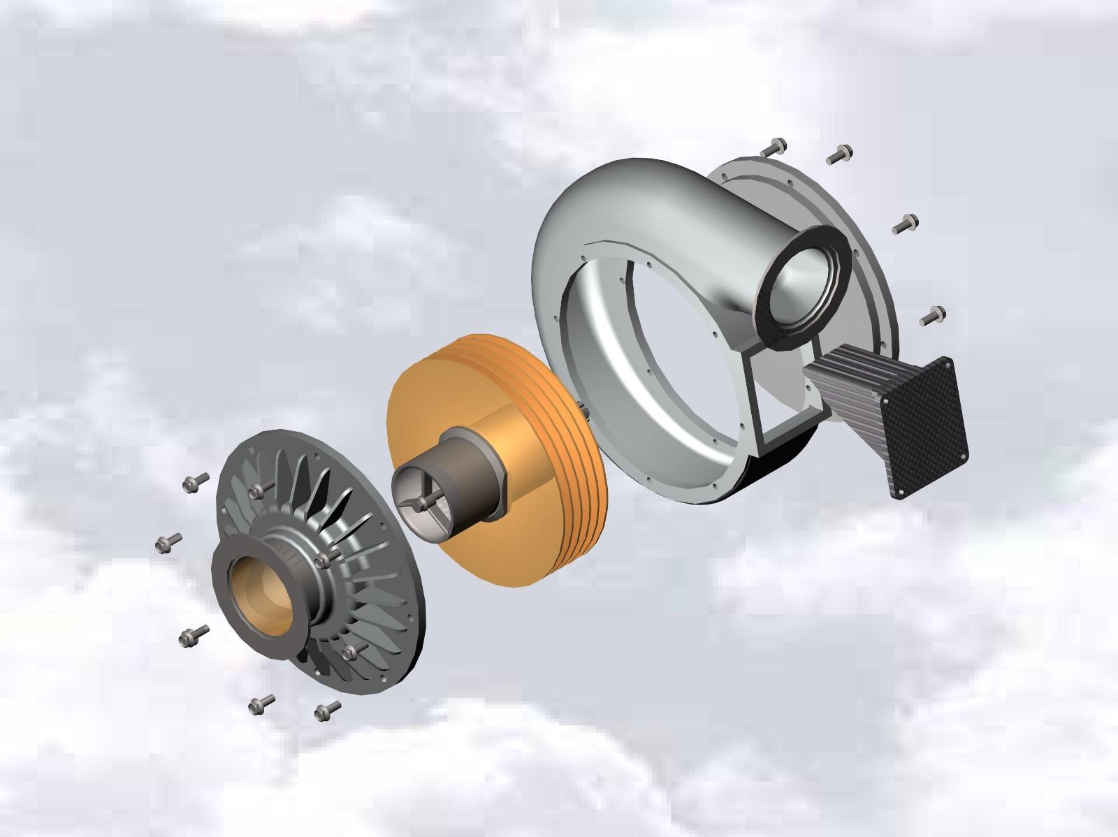 SolidWorks模型免费下载:特斯拉涡轮泵