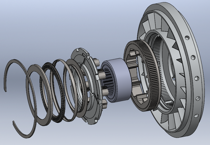 SolidWorks模型免费下载:液力变矩器(液力变扭器)