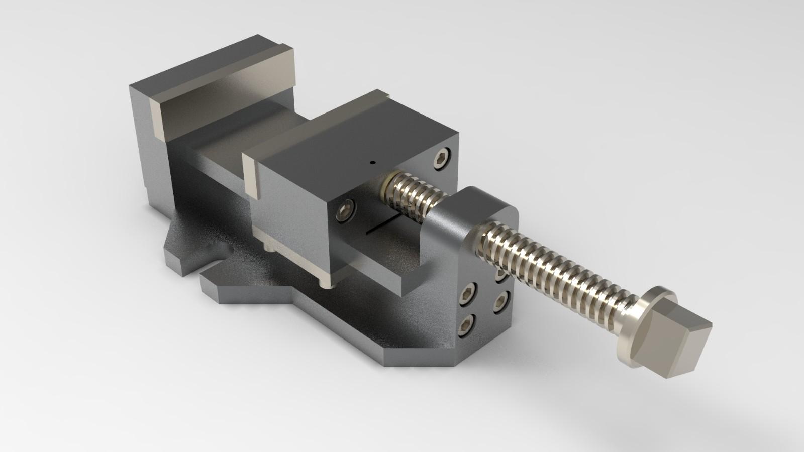 SolidWorks模型免费下载:台虎钳
