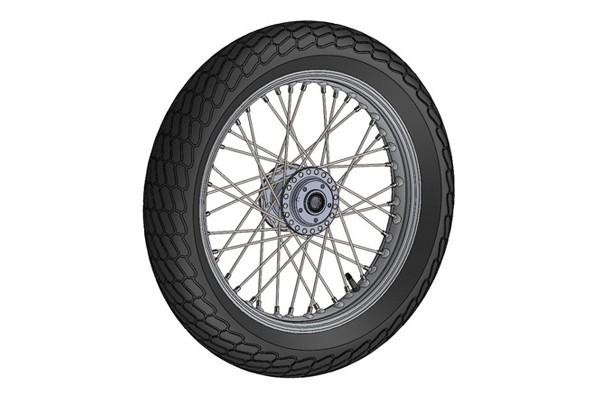 SolidWorks模型免费下载:摩托车前轮