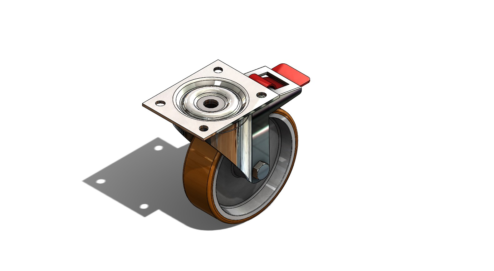 SolidWorks模型免费下载:推车车轮