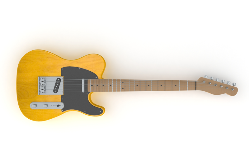SolidWorks模型免费下载:吉他