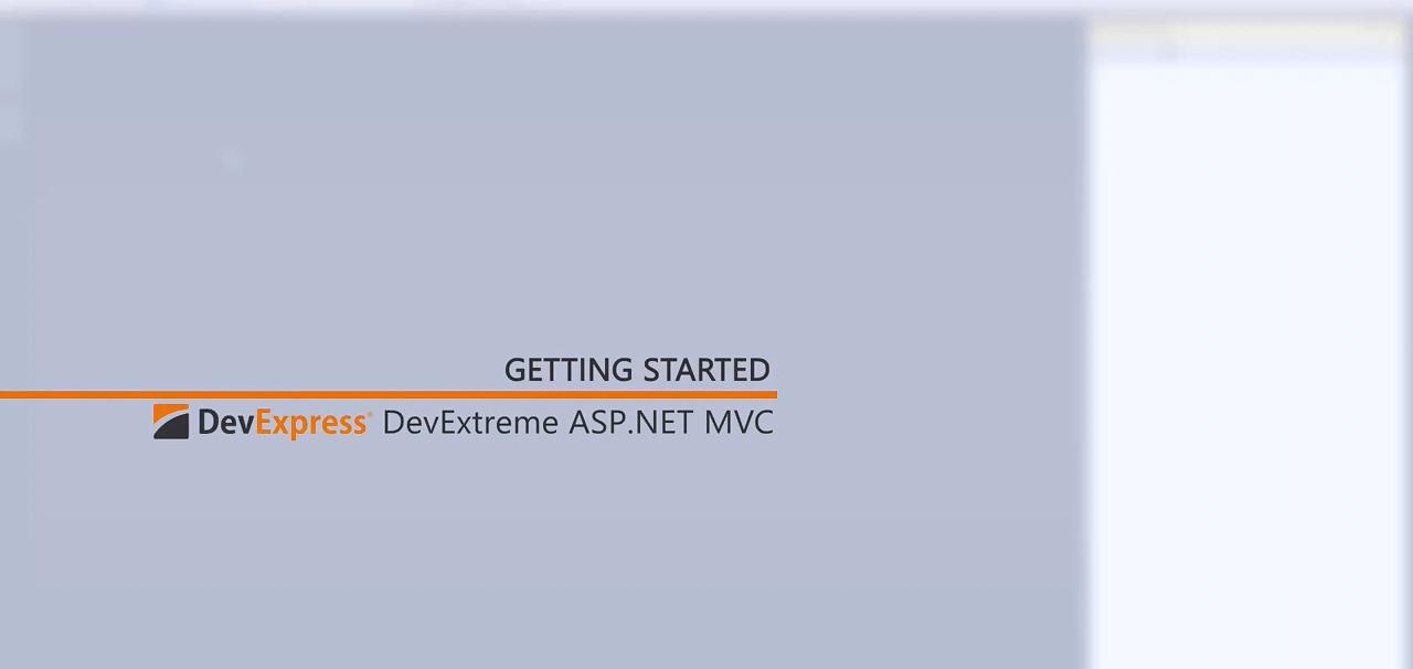 [官方视频教程]DevExtreme ASP.NET MVC:入门指南