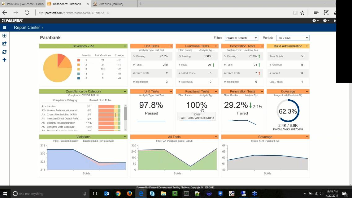 在线演示:如何与Parasoft SOAtest和Burp Suite一起工作