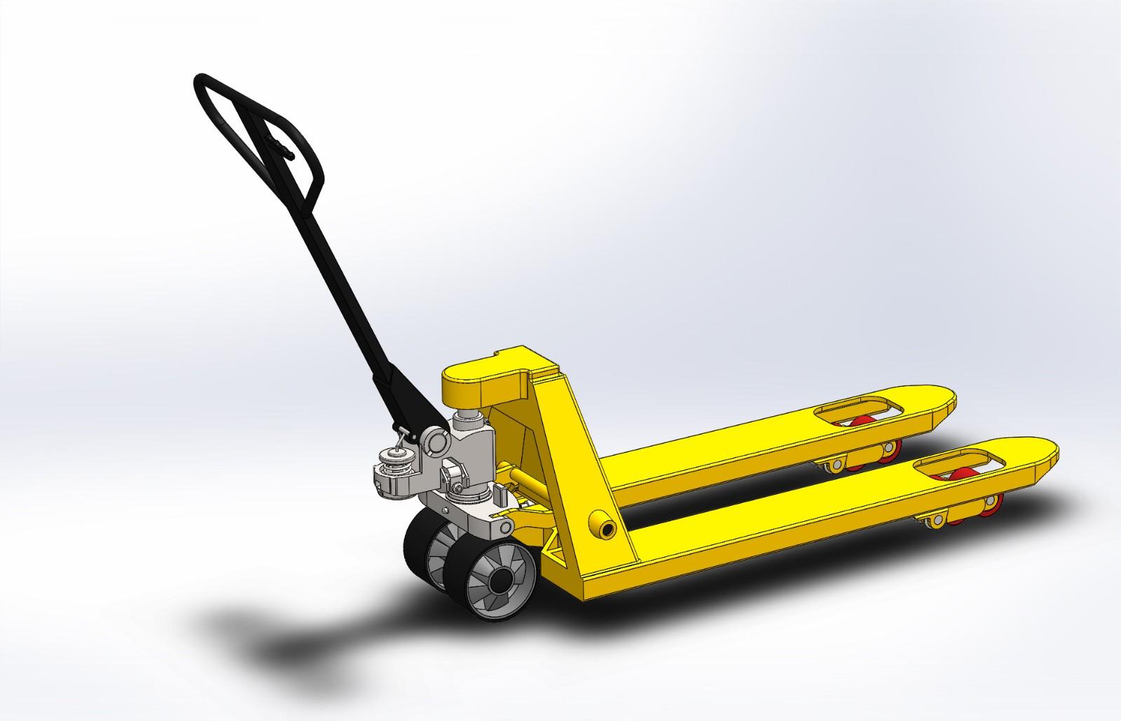 SolidWorks模型免费下载:手推叉车