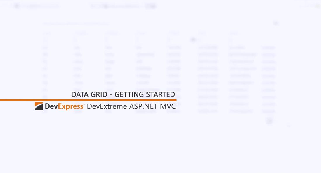 [官方视频教程]DevExtreme ASP.NET MVC:网格入门指南