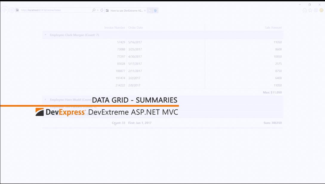 [官方视频教程]DevExtreme ASP.NET MVC:摘要
