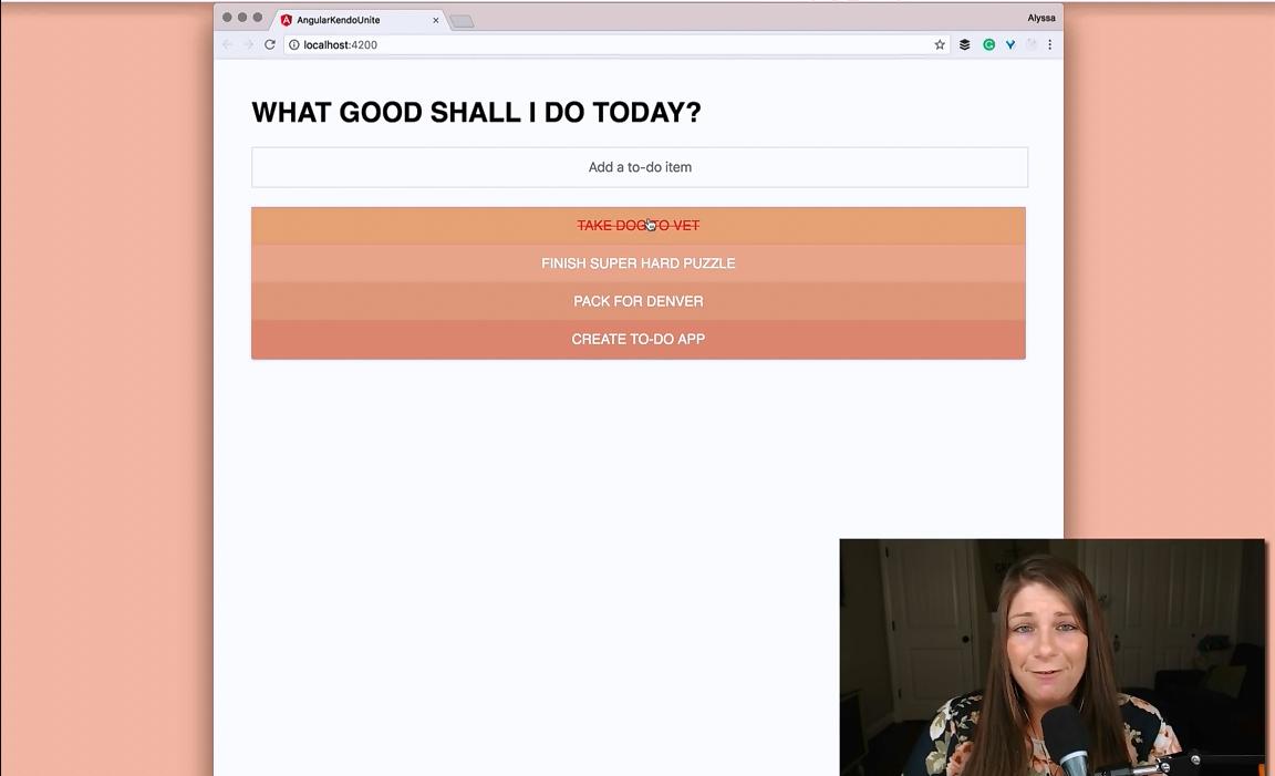【官方视频教程】Kendo UI Angular:向待办应用添加自定义Angular动画