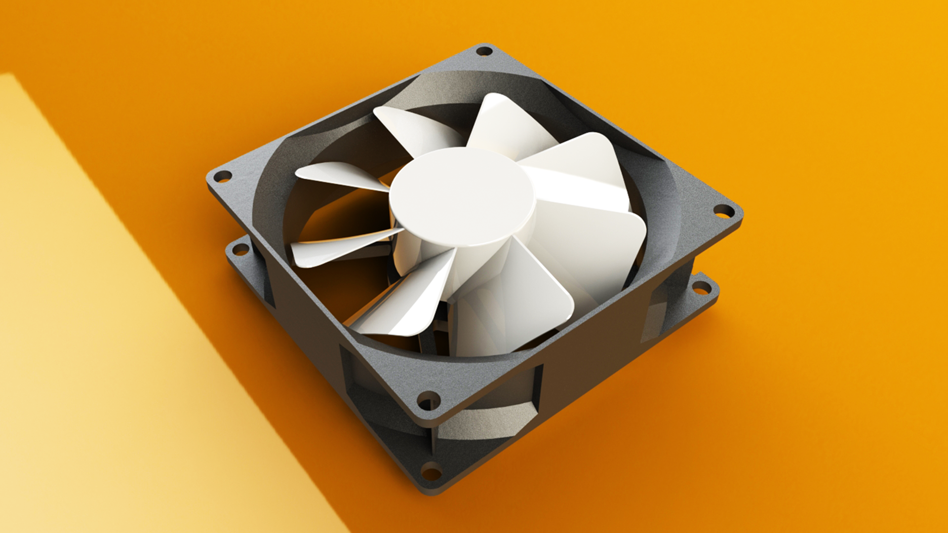 SolidWorks模型免费下载:电脑风扇