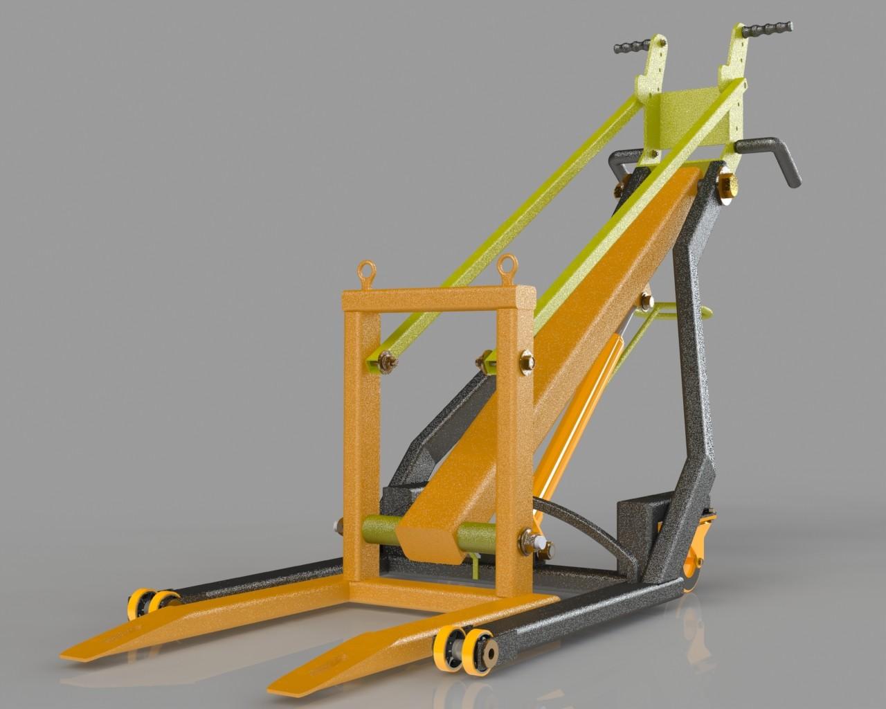 SolidWorks模型免费下载:液压起重机