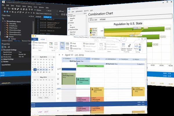 MFC界面开发套包Xtreme Toolkit Pro示例:活动窗格视图