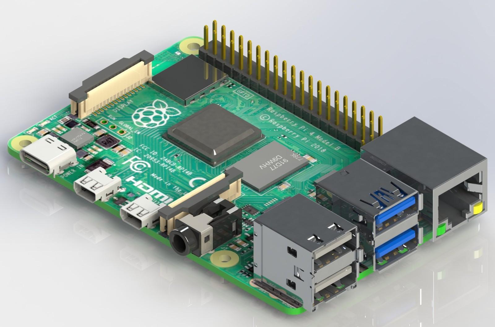 SolidWorks模型免费下载:树莓派4型号B
