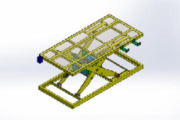 【SolidWorks免费模型下载】:工业电气剪叉式升降机  免费模型下载