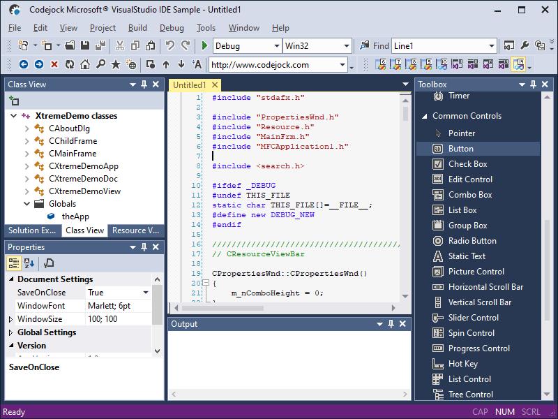 MFC界面开发工具Xtreme Toolkit Pro示例:VisualStudio GUI