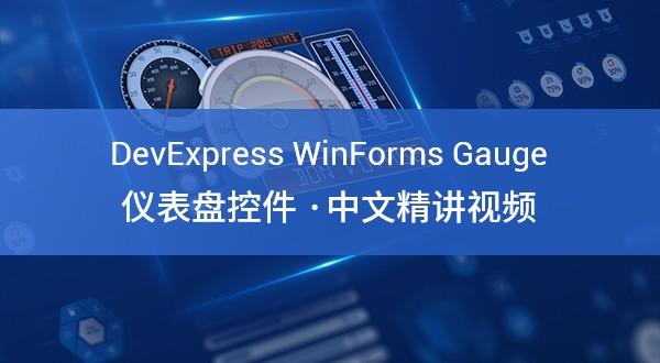 DevExpress Winforms Gauge(仪表盘)控件教学视频