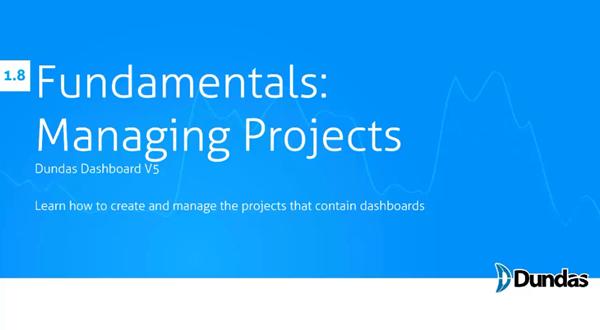 Dundas Dashboard:项目管理