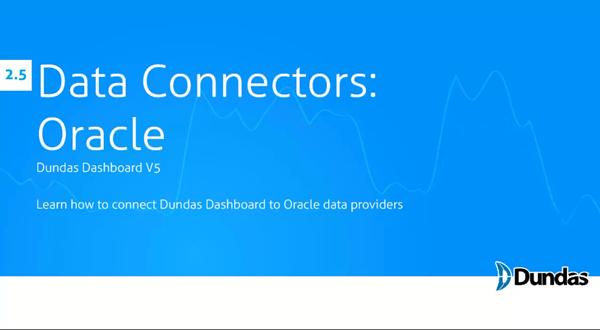 Dundas Dashboard:Oracle