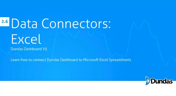 Dundas Dashboard:数据连接到Excel