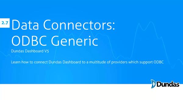 Dundas Dashboard:ODBC Generic