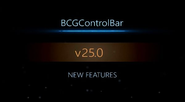 BCGControlBar V25.0新功能介绍