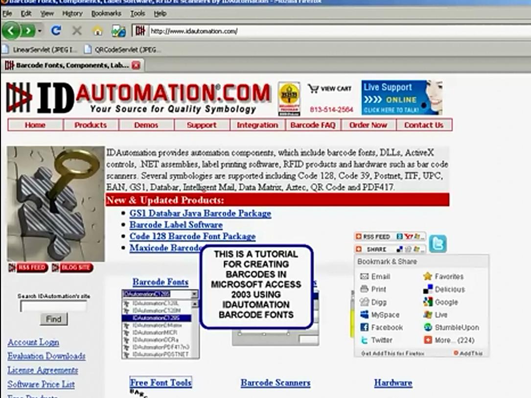 IDAutomation Access中的条形码字体(一):如何在Microsoft Access 2003中创建条形码