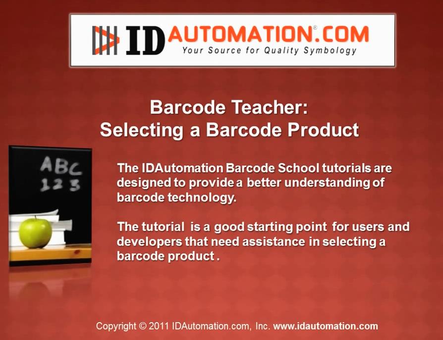 IDAutomation Barcode入门视频教程