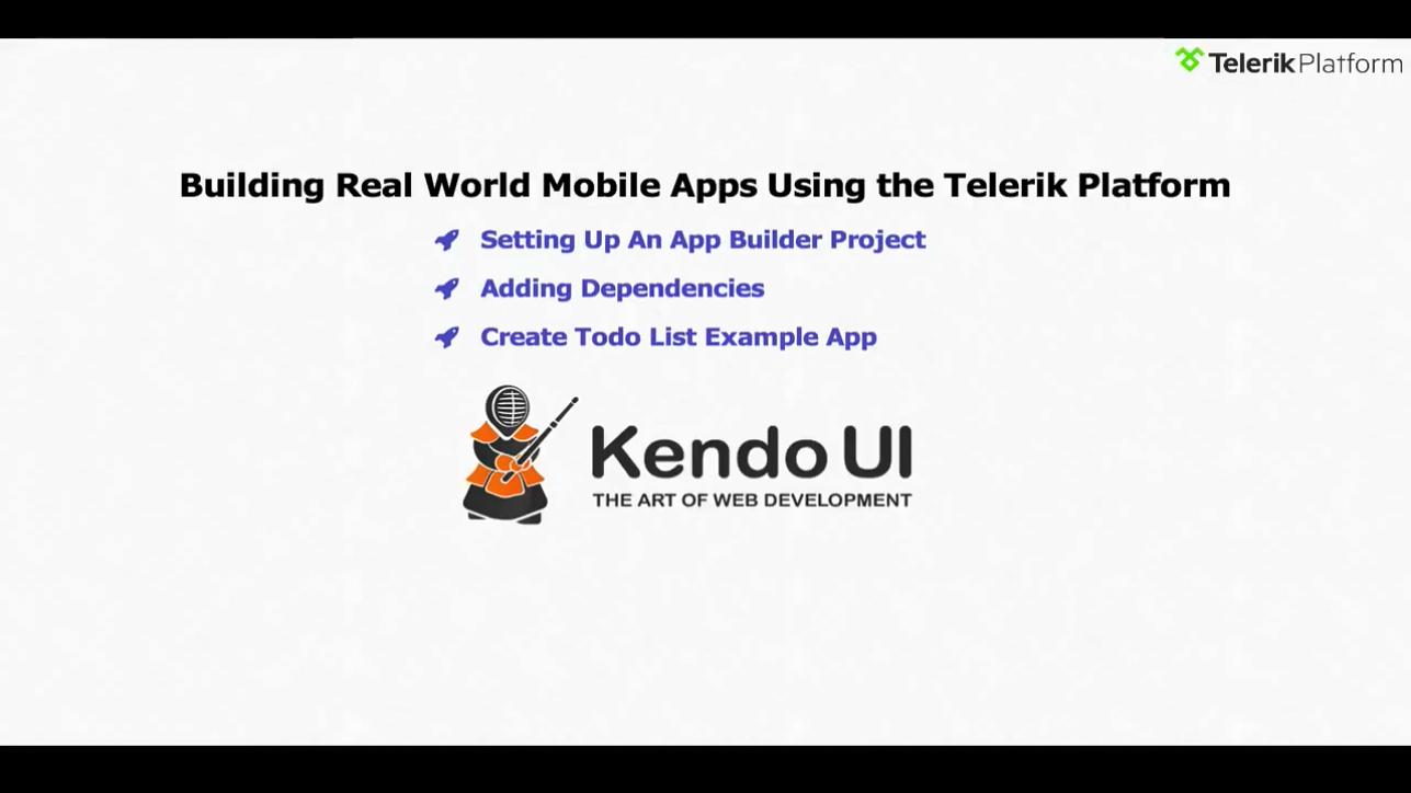 使用 Telerik 构建移动应用程序 - 第一部分