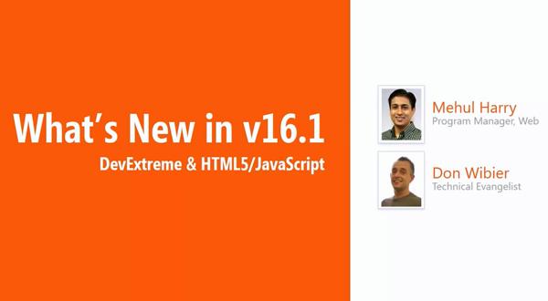 【官方视频】HTML5/JS框架DevExtreme 2016.1新增了哪些功能?