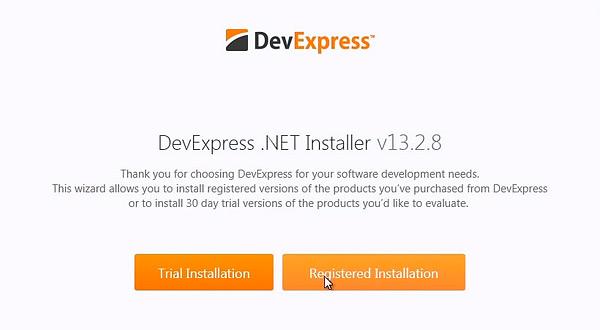 DevExpress 13.2.8在线安装与离线注册