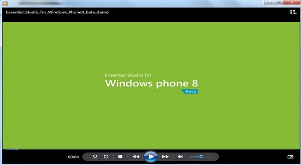 Essential Studio for Windows Phone基本功能介绍