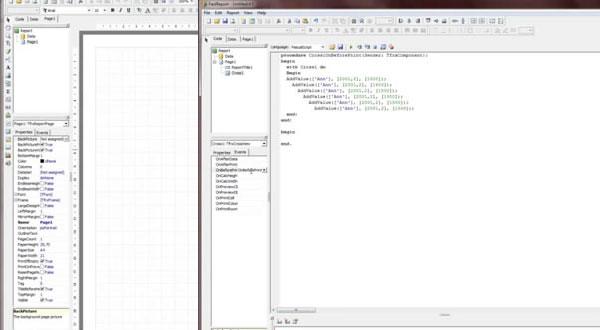 FastReport VCL视频教程六:用脚本创建交叉报表