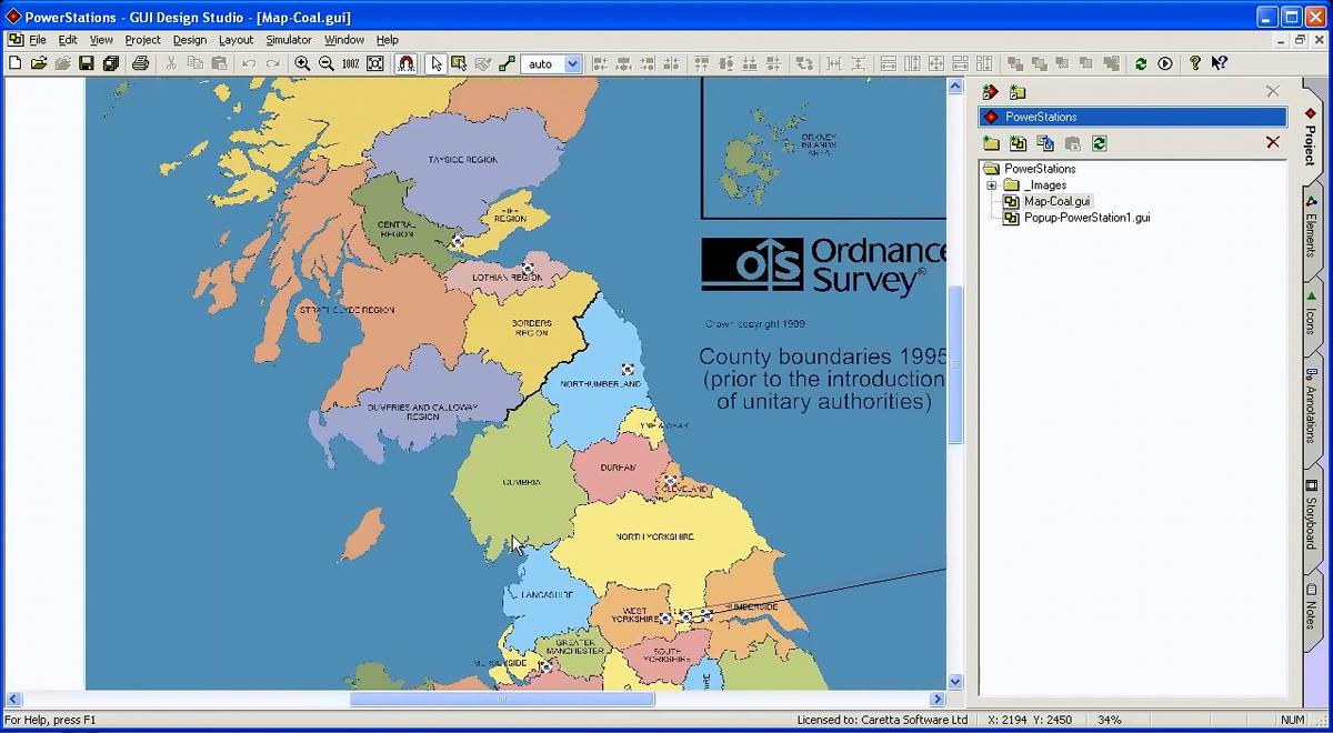 如何使用GUI Design Studio创建滚动视图的原型