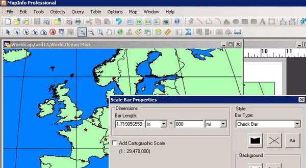 MapInfo Professional v10.0中如何设置布局窗口