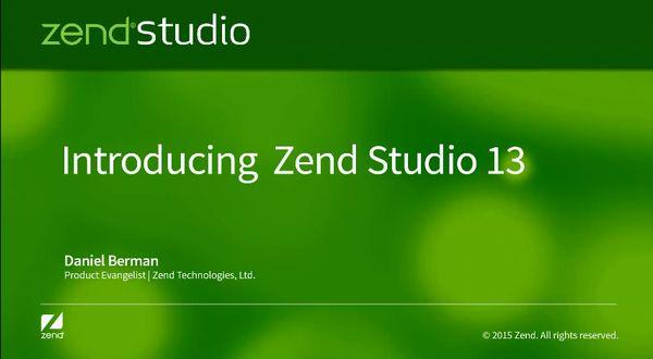 Zend Studio教学视频之Zend Studio 13介绍