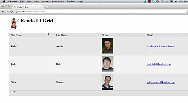 Kendo UI Web入门视频五:Kendo UI Grid
