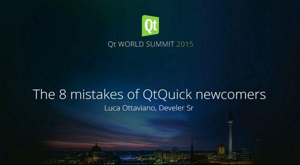 Qt Quick新手容易犯的8个错误介绍