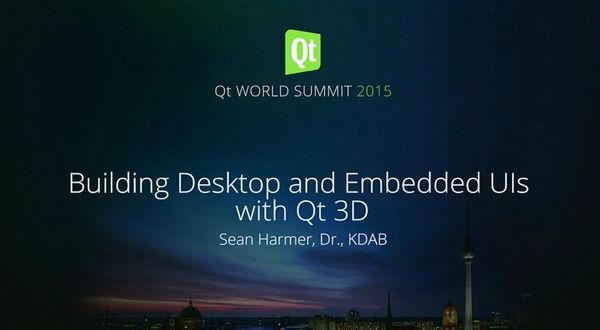 Qt Enterprise:使用Qt 3D构建桌面和嵌入式用户界面(一)