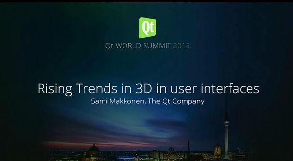 Qt Enterprise:3D用户界面的上升趋势