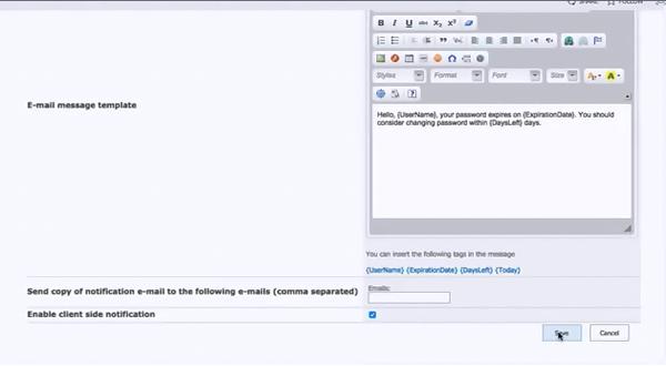 Virto SharePoint Password Expiration组件的使用介绍